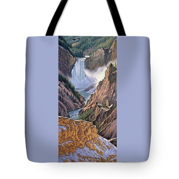Yellowstone Canyon-osprey Tote Bag by Paul Krapf