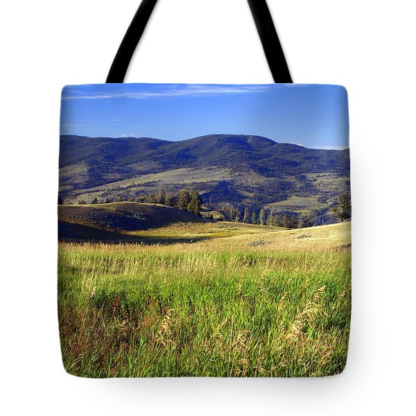Yellowstone Landscape 3 Tote Bag by Marty Koch