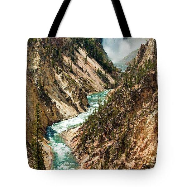 Yellowstone Waterfalls Tote Bag by Sebastian Musial