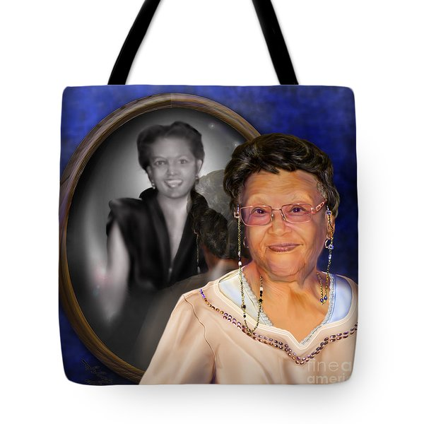 Yester-me Yester-you Yesterday Tote Bag by Reggie Duffie