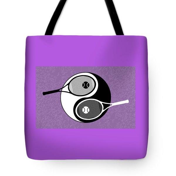 Yin Yang Tennis Tote Bag by Carlos Vieira