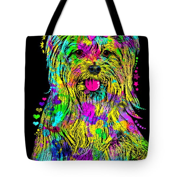 Yorkie Beauty Tote Bag by Zaira Dzhaubaeva