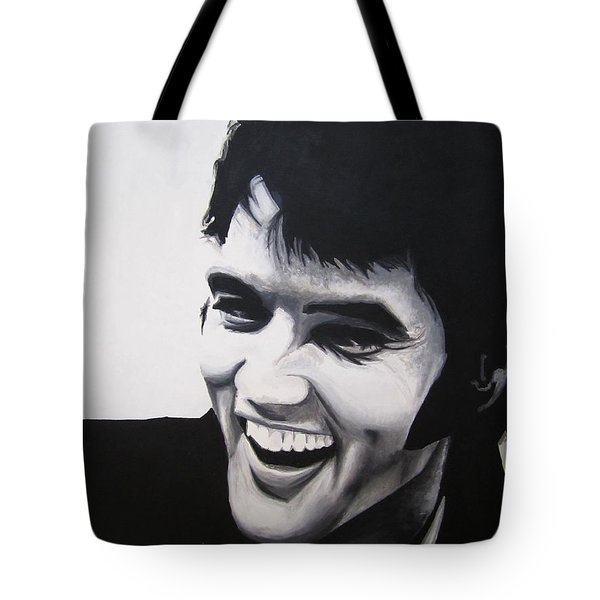 Young Elvis Tote Bag by Ashley Price