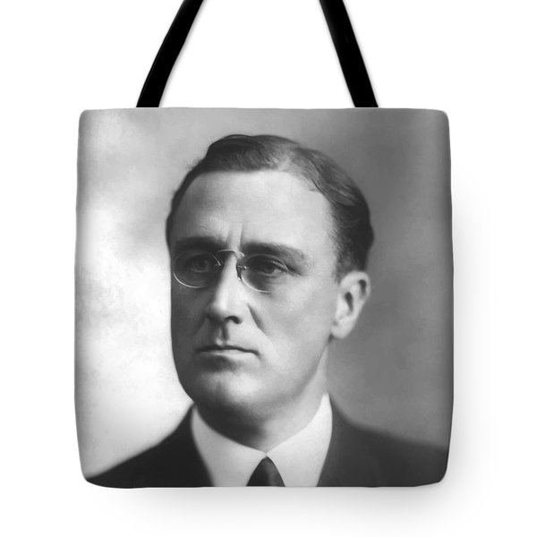 Young Franklin Delano Roosevelt Tote Bag by War Is Hell Store