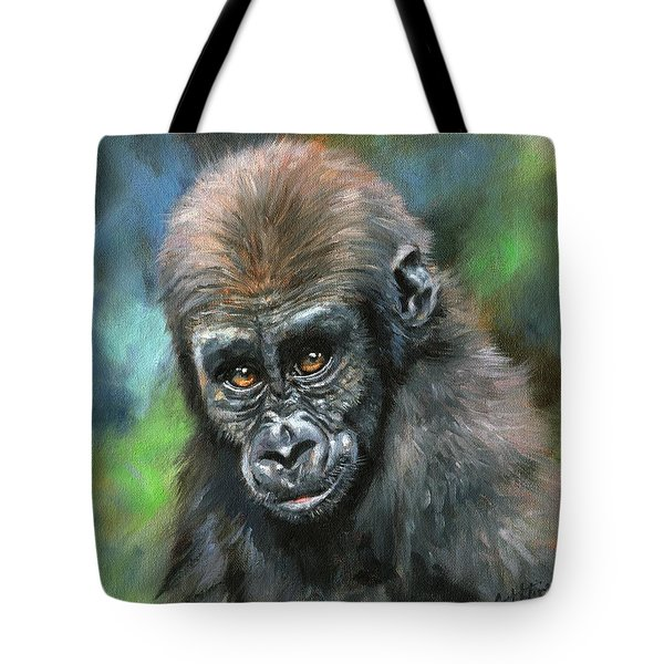 Young Gorilla Tote Bag by David Stribbling