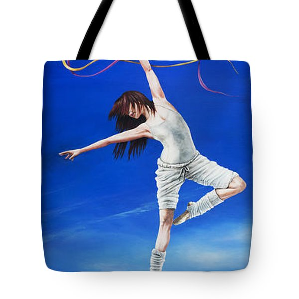 Young Lovers Meet- Girl Tote Bag by Cindy D Chinn