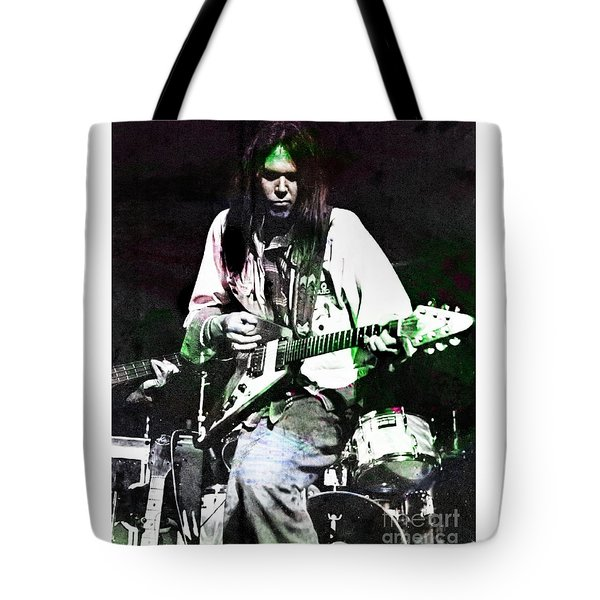 Young Neil Tote Bag by John Malone