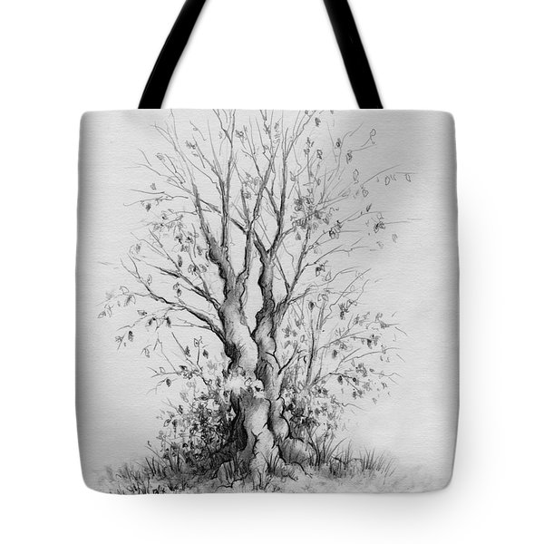 Young Tree Tote Bag by Rachel Christine Nowicki