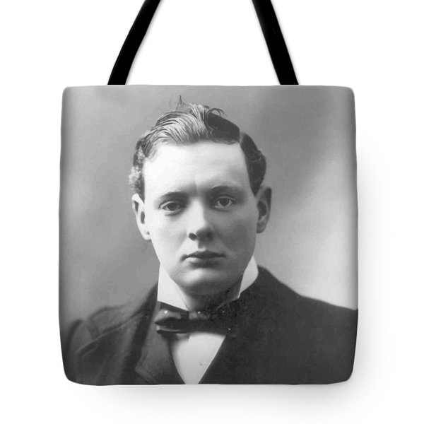 Young Winston Churchill Tote Bag by War Is Hell Store