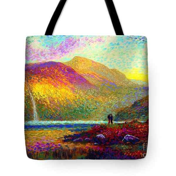 Your Love Colors My World, Modern Impressionism, Romantic Art Tote Bag by Jane Small