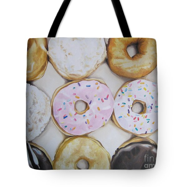 Yummy Donuts Tote Bag by Jindra Noewi