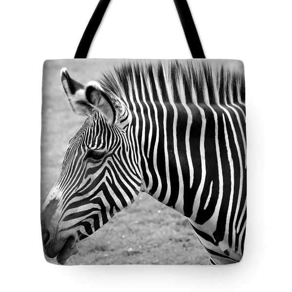 Zebra - Here It Is In Black And White Tote Bag by Gordon Dean II