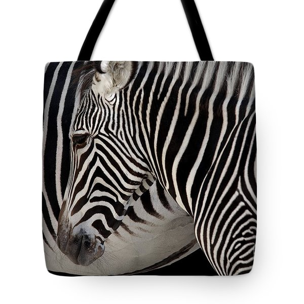 Zebra Head Tote Bag by Carlos Caetano