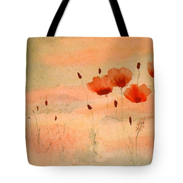 Zen Poppies Tote Bag by Arlene  Wright-Correll
