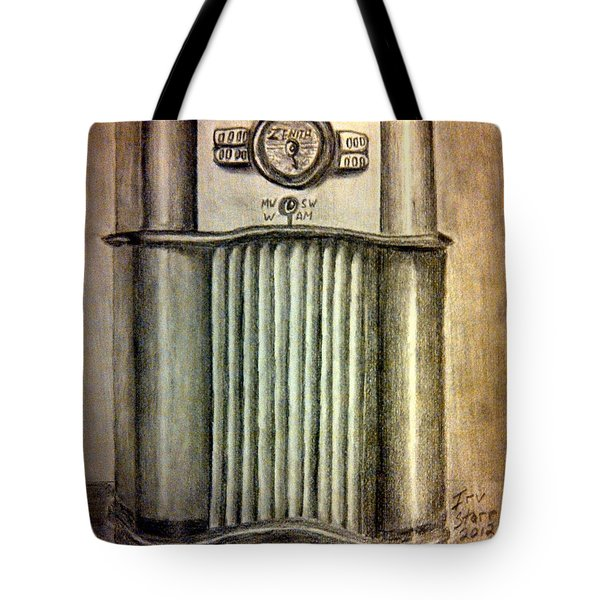 Zenith Radio Tote Bag by Irving Starr