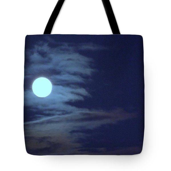 Zig Zag Moon Tote Bag by Mary Deal