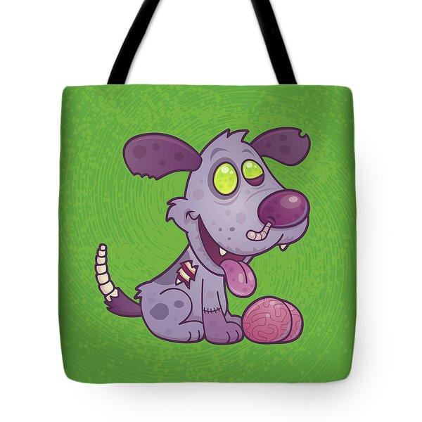 Zombie Puppy Tote Bag by John Schwegel