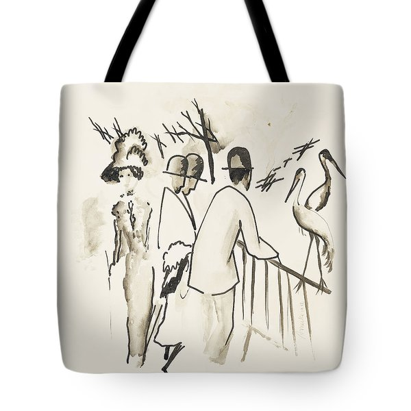 Zoological Garden II Tote Bag by August Macke