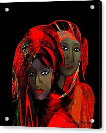 000 - Colour Of Passion Acrylic Print by Irmgard Schoendorf Welch