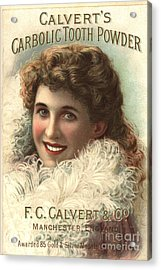 1890s Uk Calvert Toothpaste Acrylic Print by The Advertising Archives