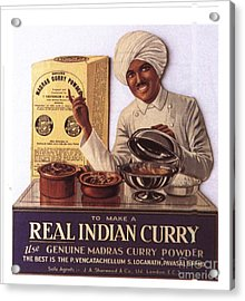 1910s Uk Indian Food Curry Warning - Acrylic Print by The Advertising Archives