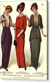 1910s Usa Womens Acrylic Print by The Advertising Archives