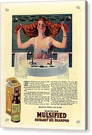 1917 1910s Usa Mulsified Shampoo Hair Acrylic Print by The Advertising Archives