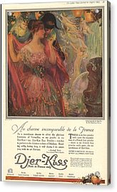 1918 1910s Usa Djer-kiss Talcum Acrylic Print by The Advertising Archives
