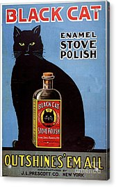 1920s Usa Cats Black Cat Enamel Stove Acrylic Print by The Advertising Archives