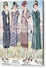 1920s Usa Womens Mail Order Catalogues Acrylic Print by The Advertising Archives