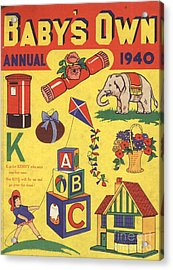 1940 1940s Uk Babies Own Annuals S Acrylic Print by The Advertising Archives