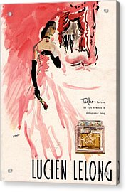 1940s Usa Lucien Lelong   Theatre Acrylic Print by The Advertising Archives