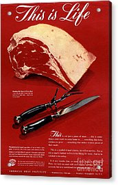 1940s Usa Meat Acrylic Print by The Advertising Archives