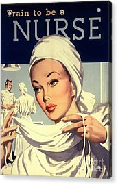 1950s Uk Nurses Hospitals Medical Acrylic Print by The Advertising Archives
