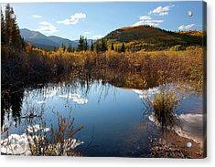 A Reflection Of Fall Acrylic Print by Jim Garrison
