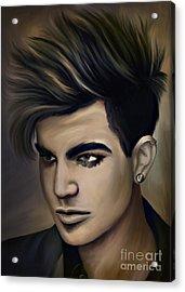 Adam Lambert Acrylic Print by Andrzej Szczerski