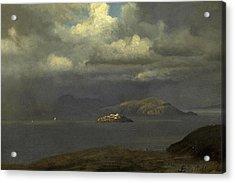 Alcatraz San Francisco Bay Acrylic Print by Albert Bierstadt