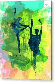 Ballet Watercolor 1 Acrylic Print by Naxart Studio