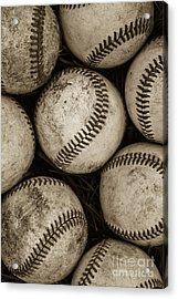 Baseballs Acrylic Print by Diane Diederich