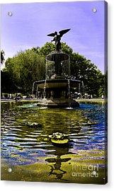Bethesda Fountain - Central Park  Acrylic Print by Madeline Ellis