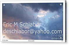 Blue And Purple Parting Clouds Print Acrylic Print by Eric  Schiabor