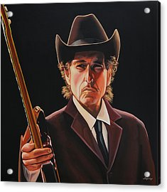 Bob Dylan Painting 2 Acrylic Print by Paul Meijering