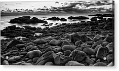 Boulders At Sunrise Marginal Way Acrylic Print by Jeff Sinon