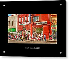 Bus Stop  Acrylic Print by Joseph Coulombe