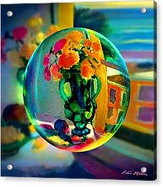 Cercle La Vie En Rose  Acrylic Print by Robin Moline