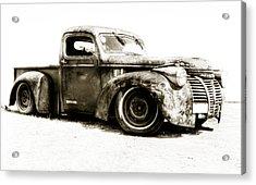 Chevy Pickup Patina  Acrylic Print by motography aka Phil Clark