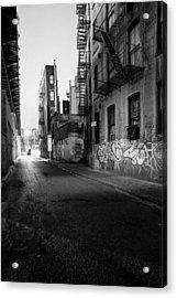 Chinatown New York City - Mechanics Alley Acrylic Print by Gary Heller