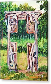 Cross Gate On The Hill Acrylic Print by Misuk Jenkins