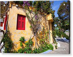 Decorated House With Plants Acrylic Print by Aiolos Greek Collections