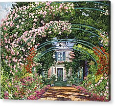 Flowering Arbor Giverny Acrylic Print by David Lloyd Glover